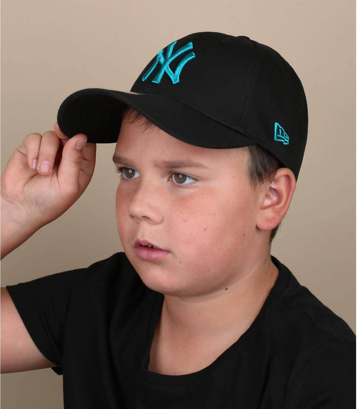 gorra niño NY negro