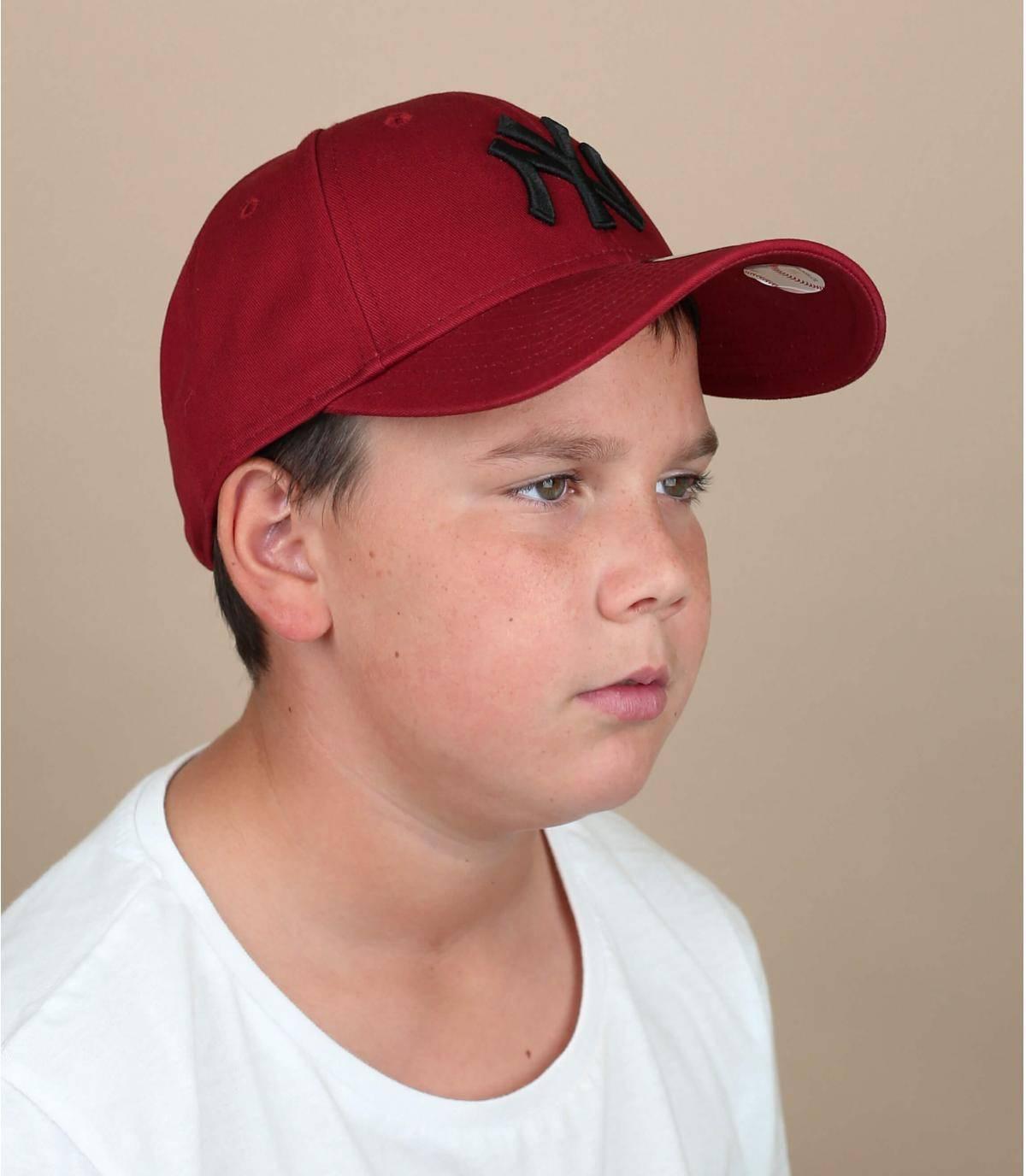 gorra niño NY rojo