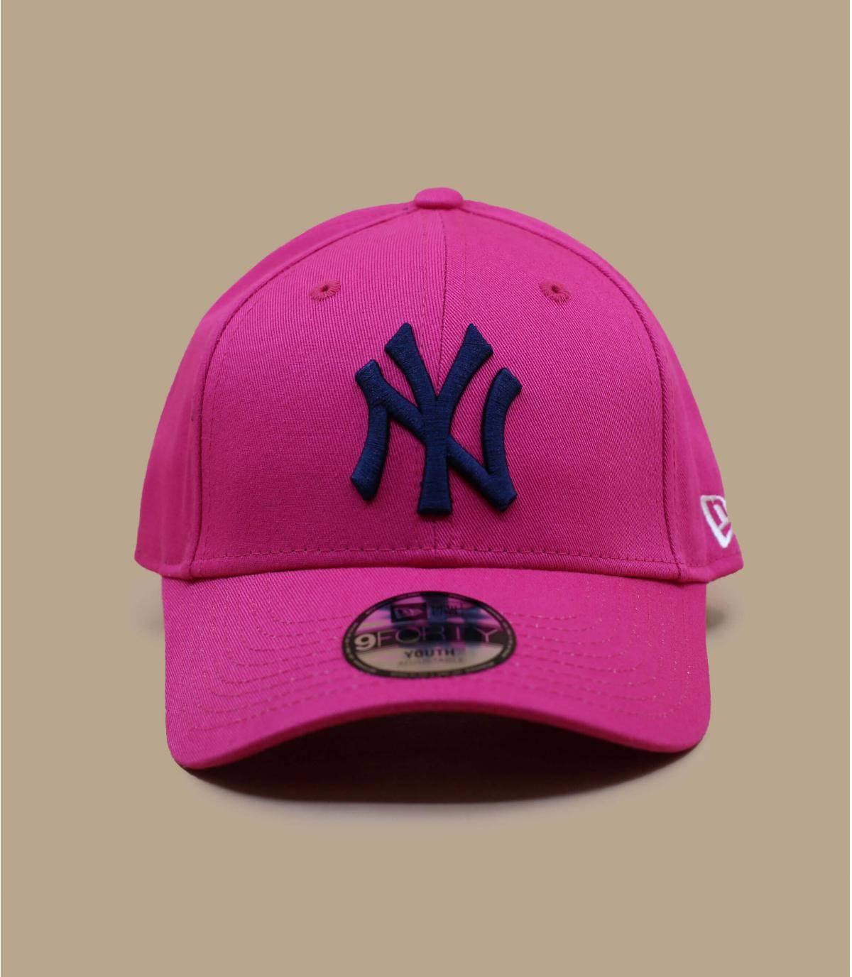 gorra niño NY rosa