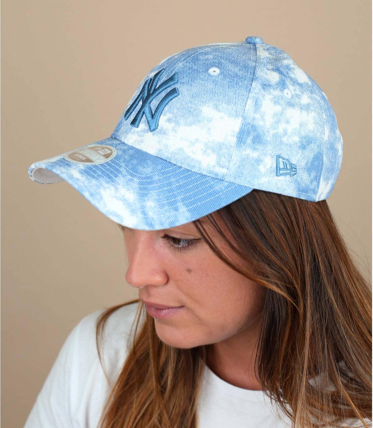 gorra mujer NY azul