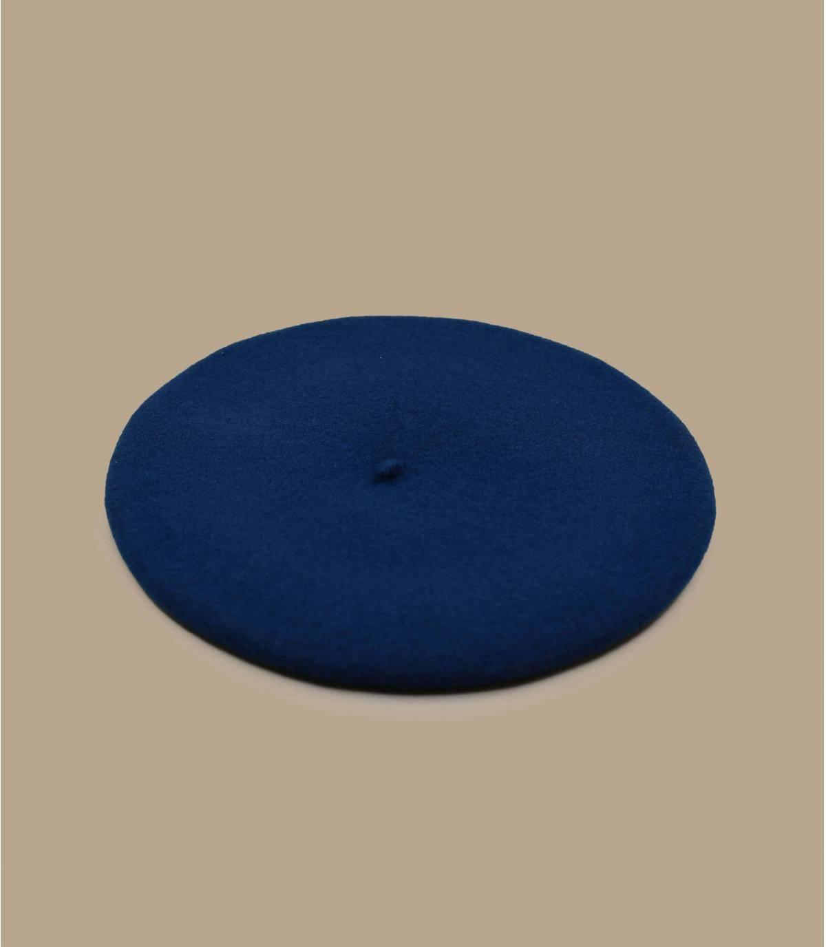 Boina de lana azul
