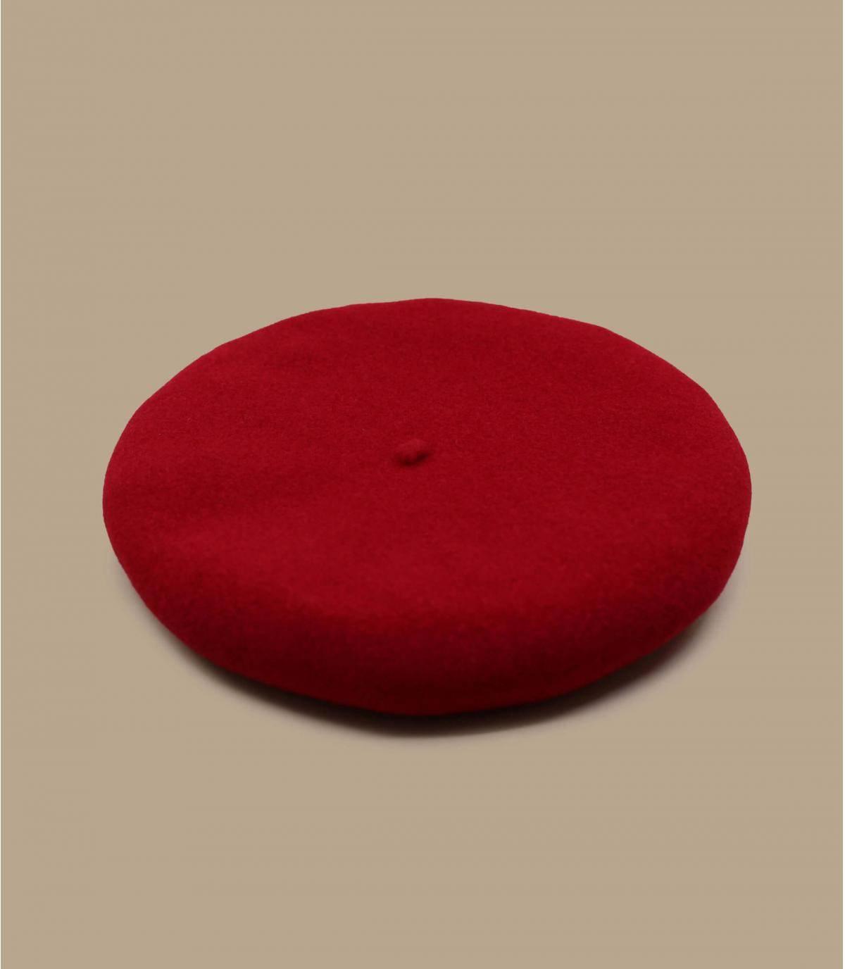 Boina de lana roja