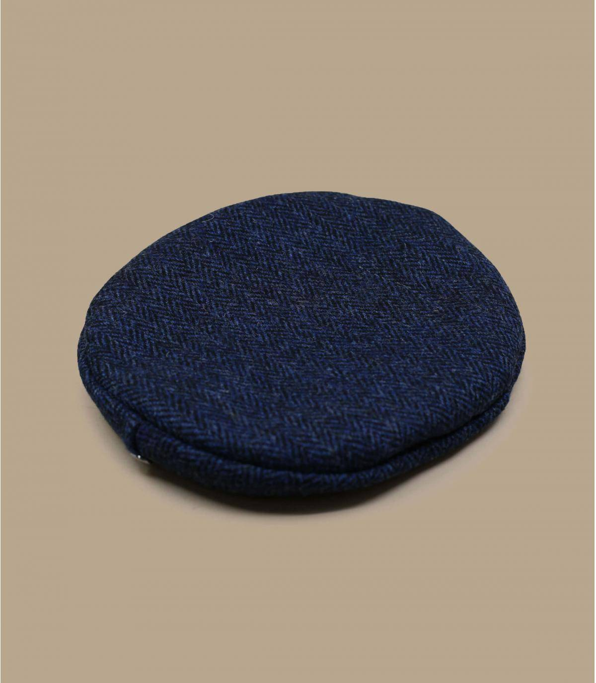 Boina tweed azul