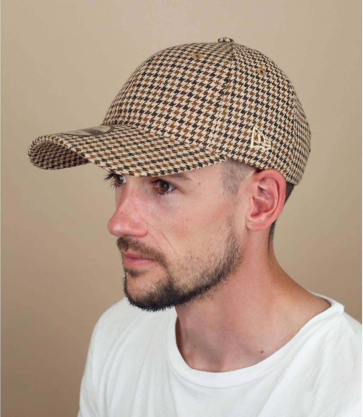 Gorra de cuadros New Era