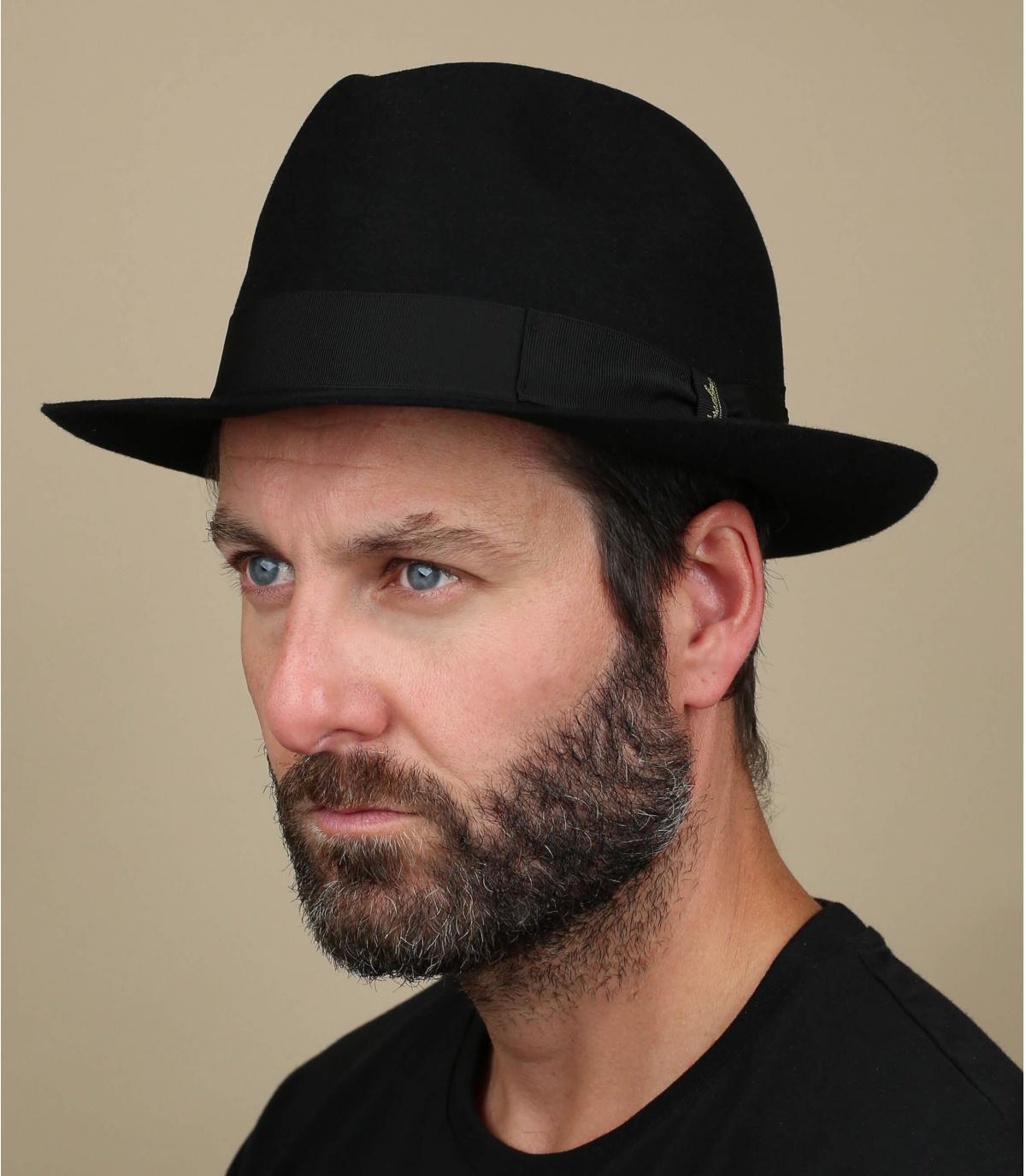 Marengo black fur felt hat
