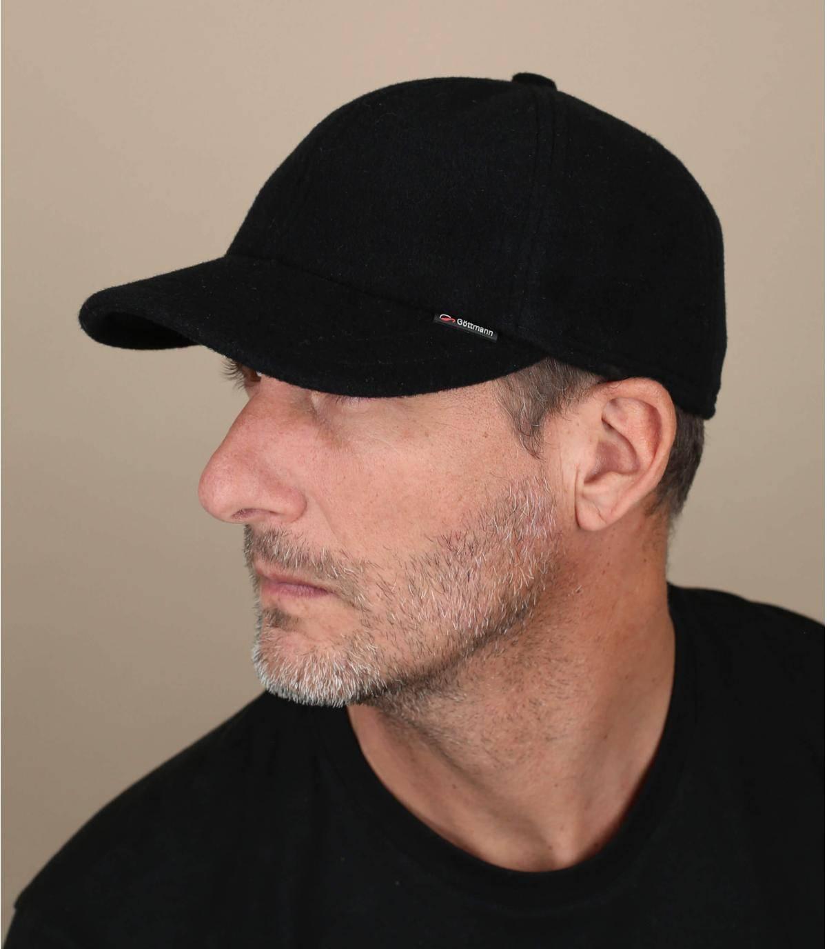 gorra lana negra
