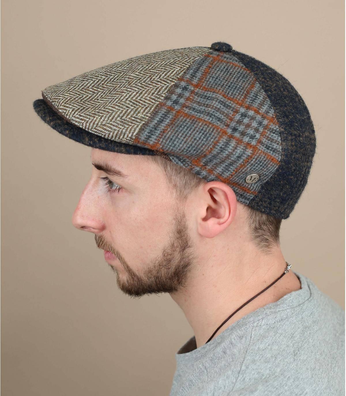Boina patchwork de lana