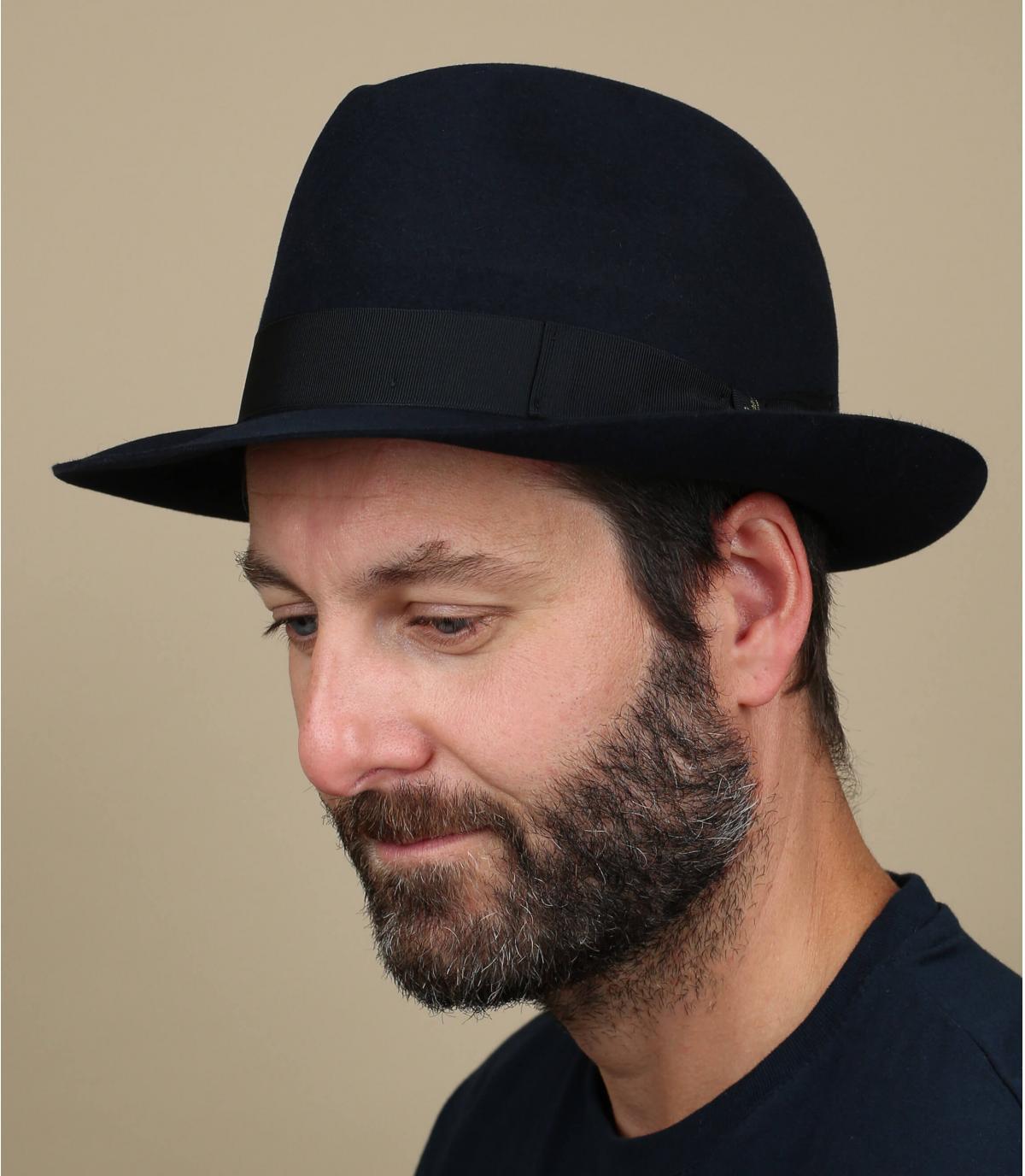 Marengo navy fur felt hat