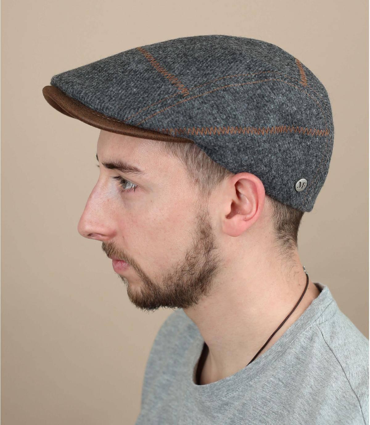 boina gris lana
