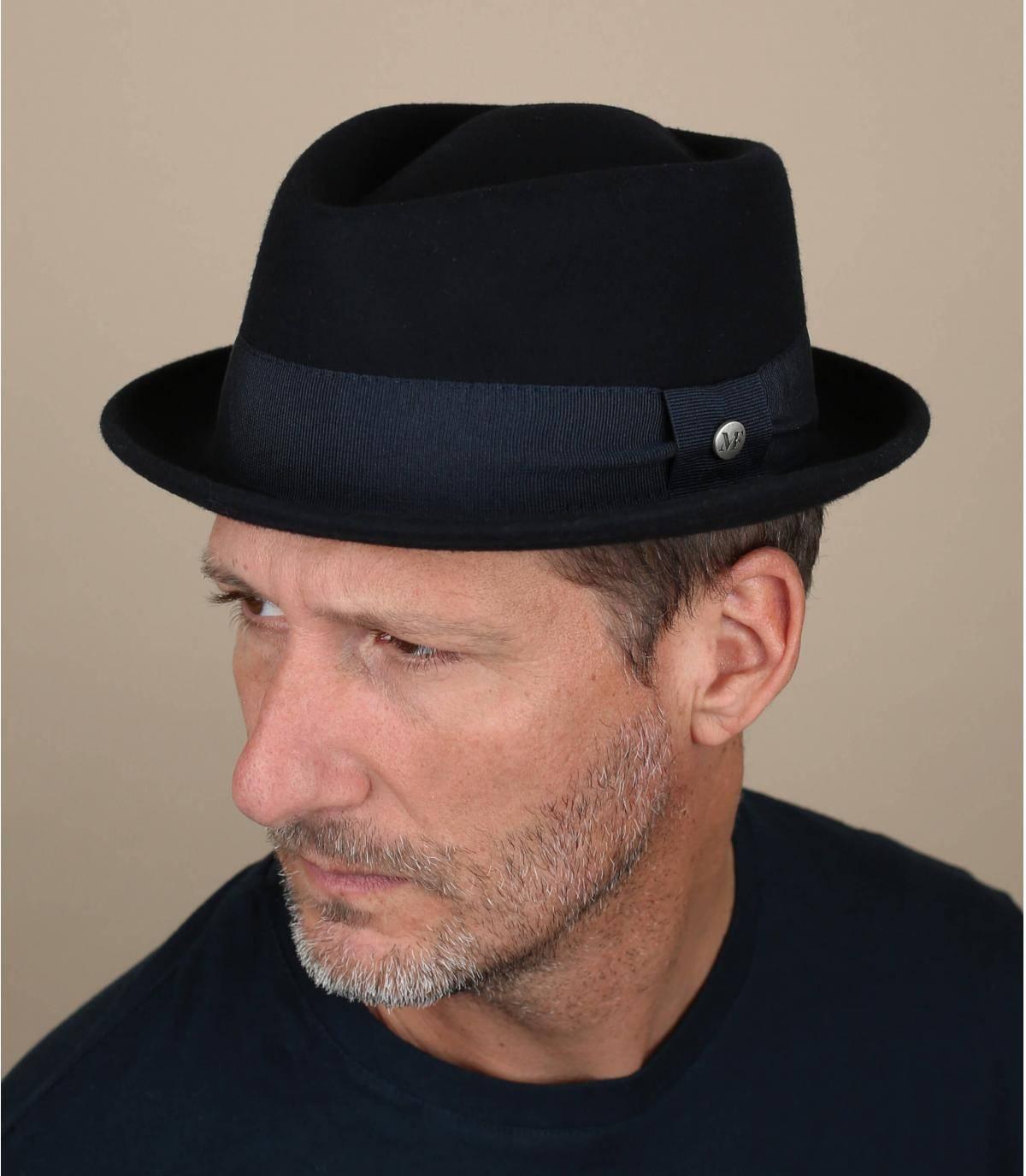 sombrero pork pie azul marino