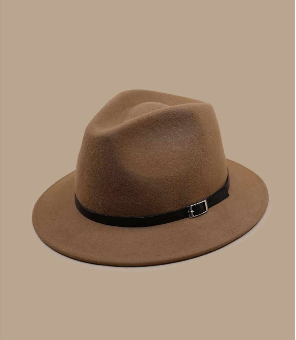 sombrero de fieltro camel