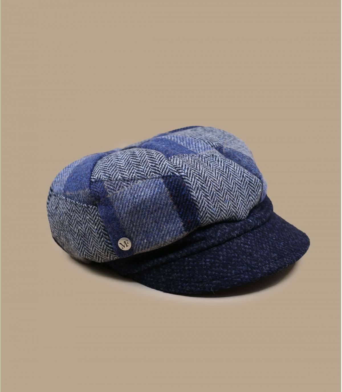 gorra repartidor de Periódicos de lana  patchwork
