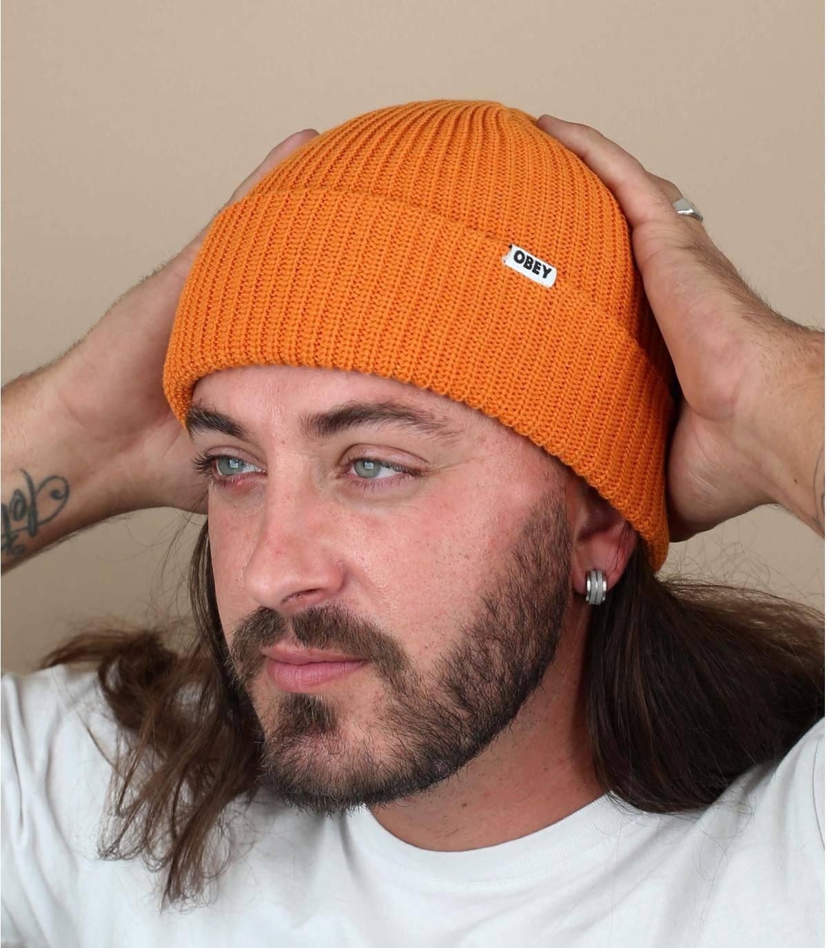 gorro docker naranja