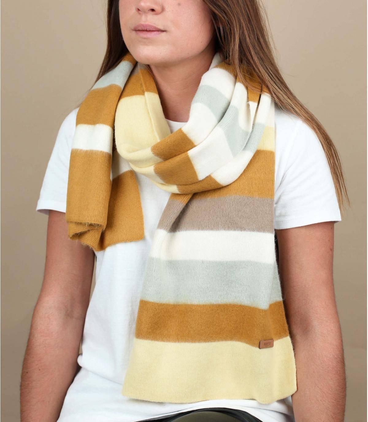 Bufanda de rayas amarilla