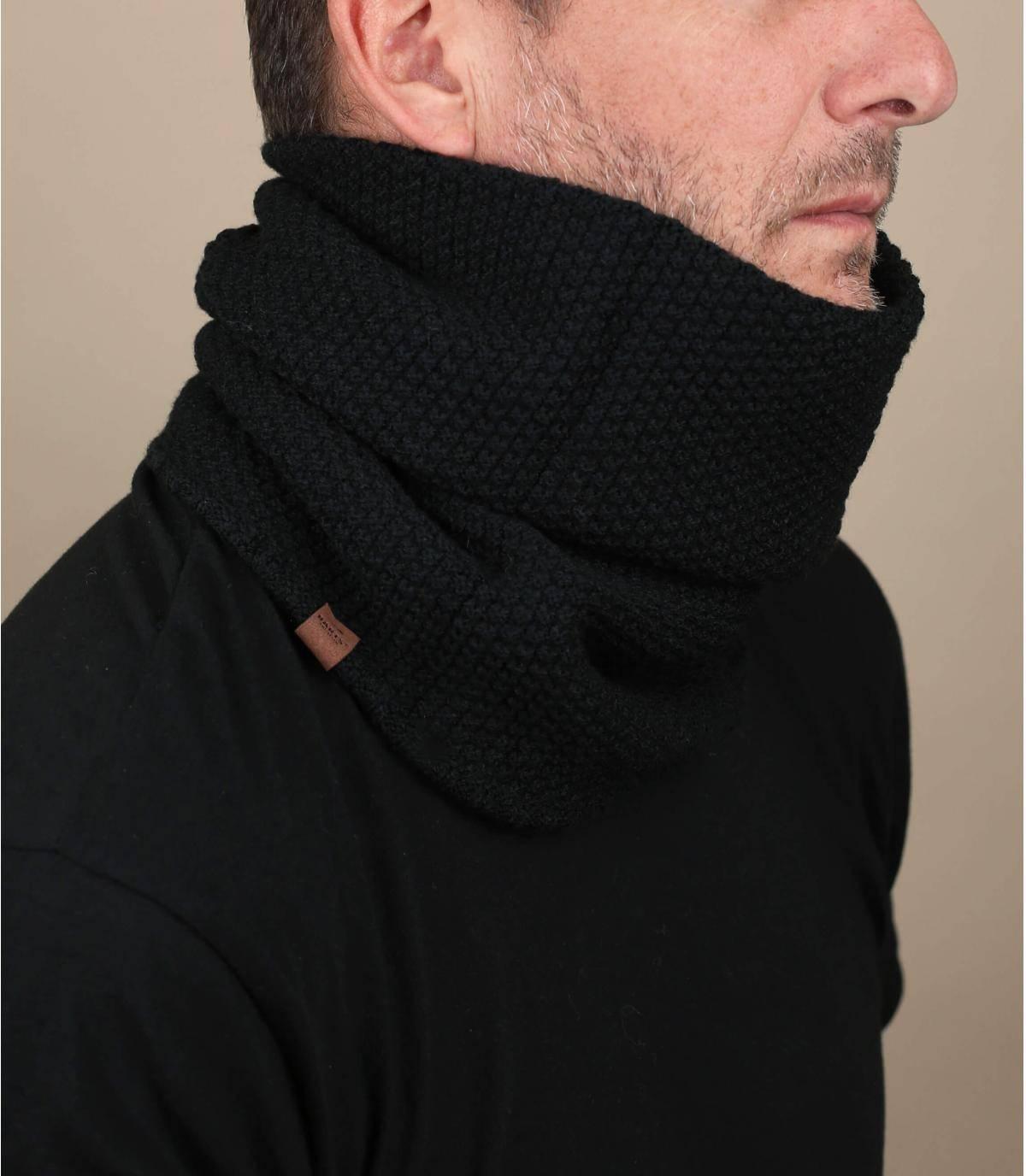 Bufanda  tubo negra