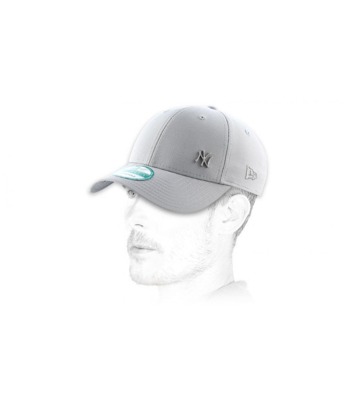 MLB flawless logo NY gray cap