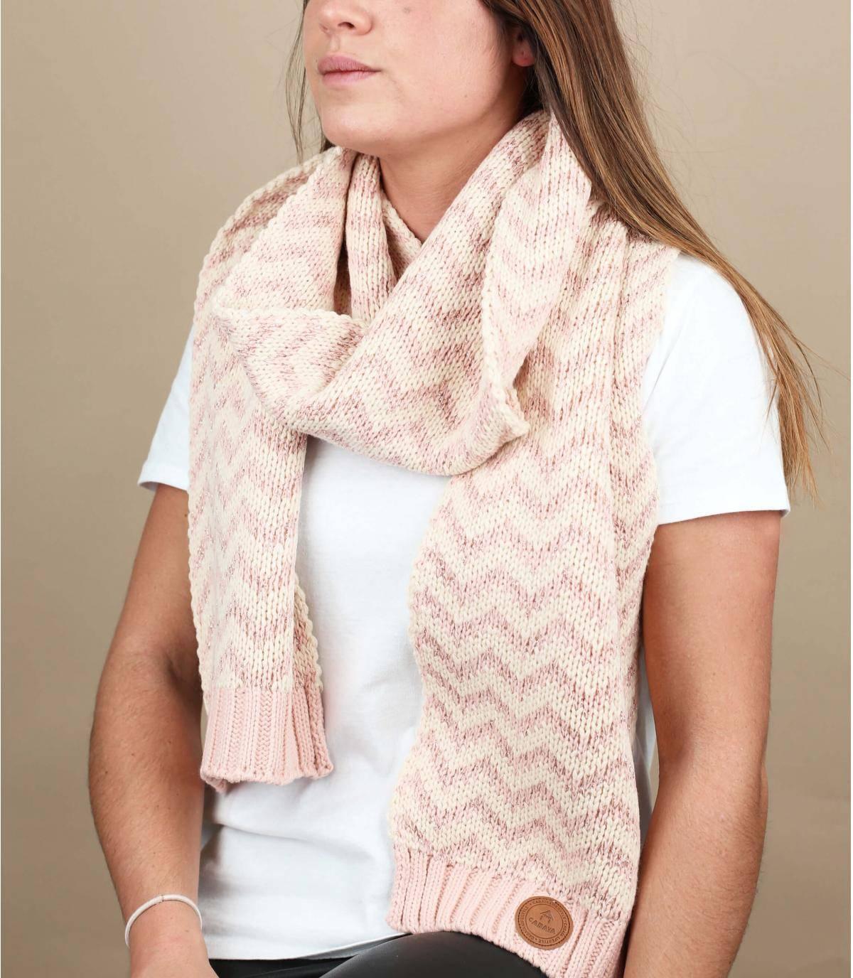 bufanda rosa lurex