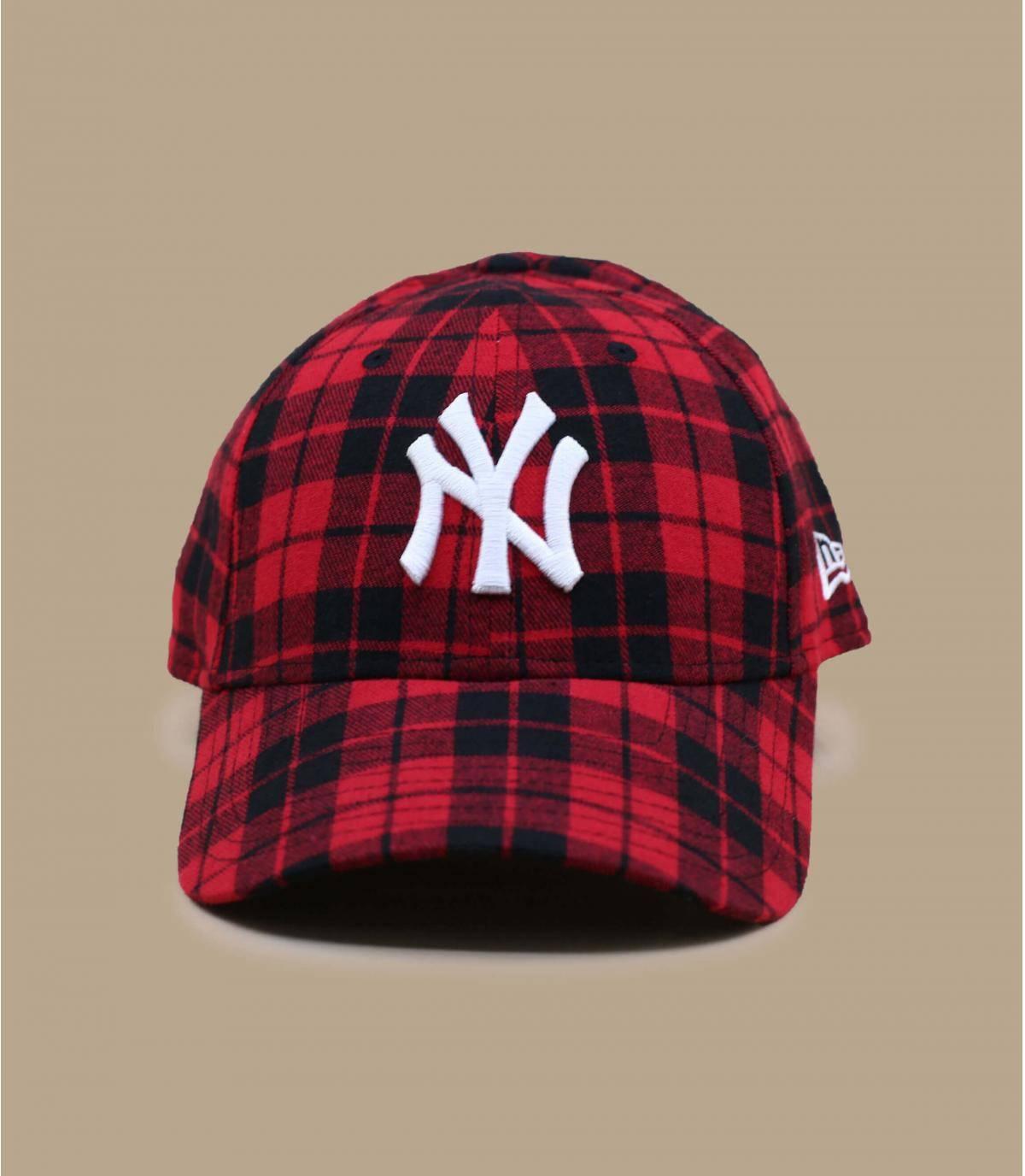 gorra NY cuadros
