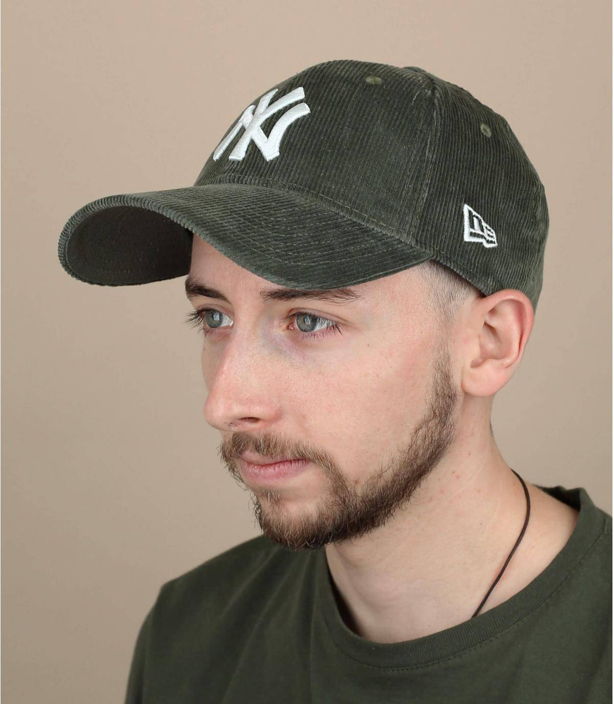 gorra terciopelo verde