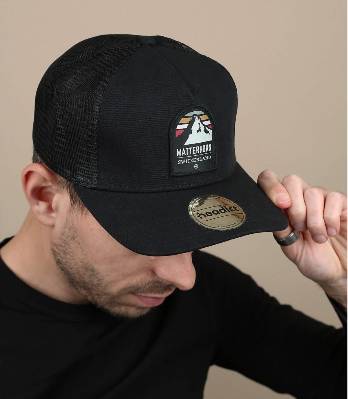 trucker matterhorn noir
