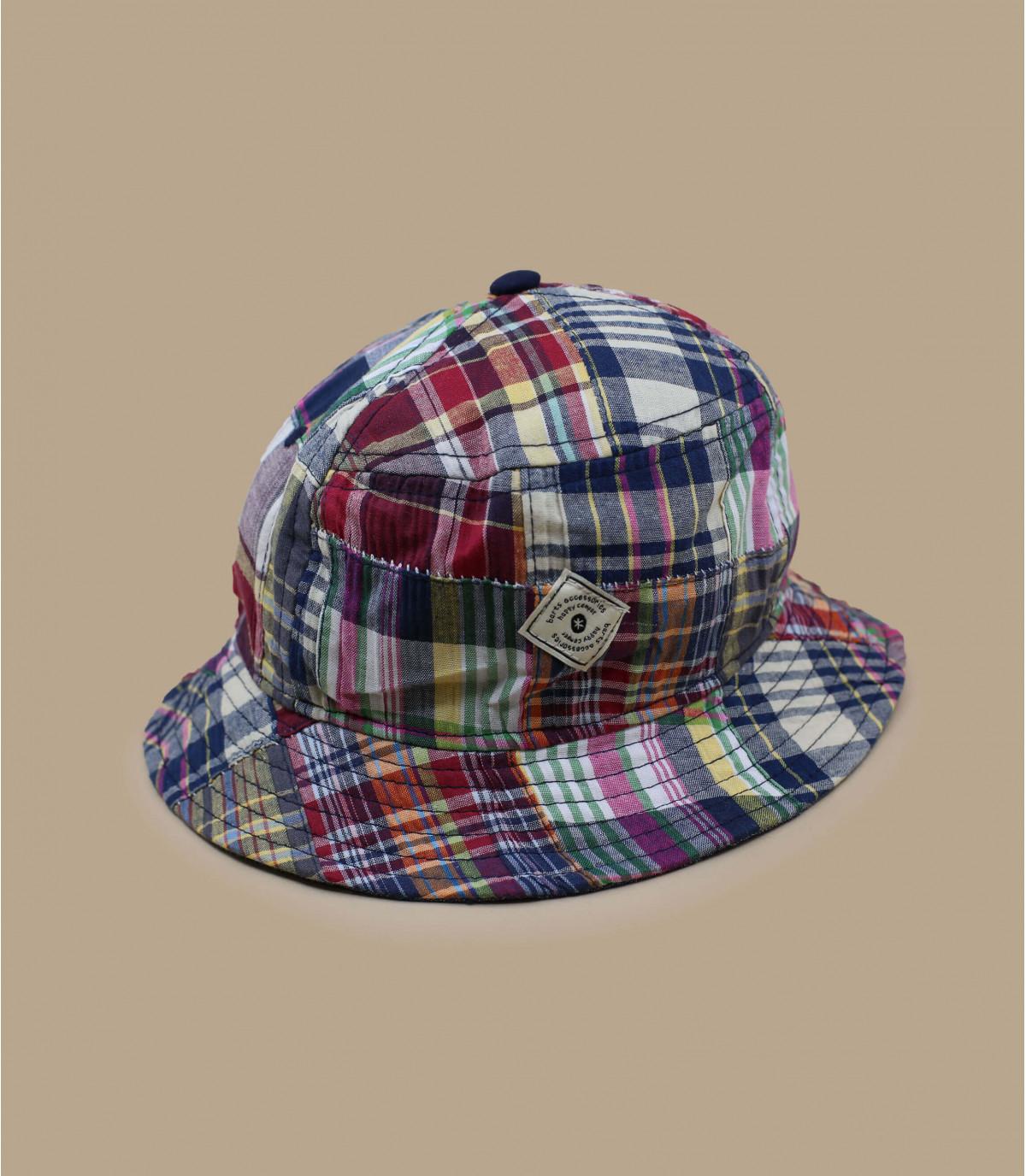 sombrero de pescador niño cuadros colorido