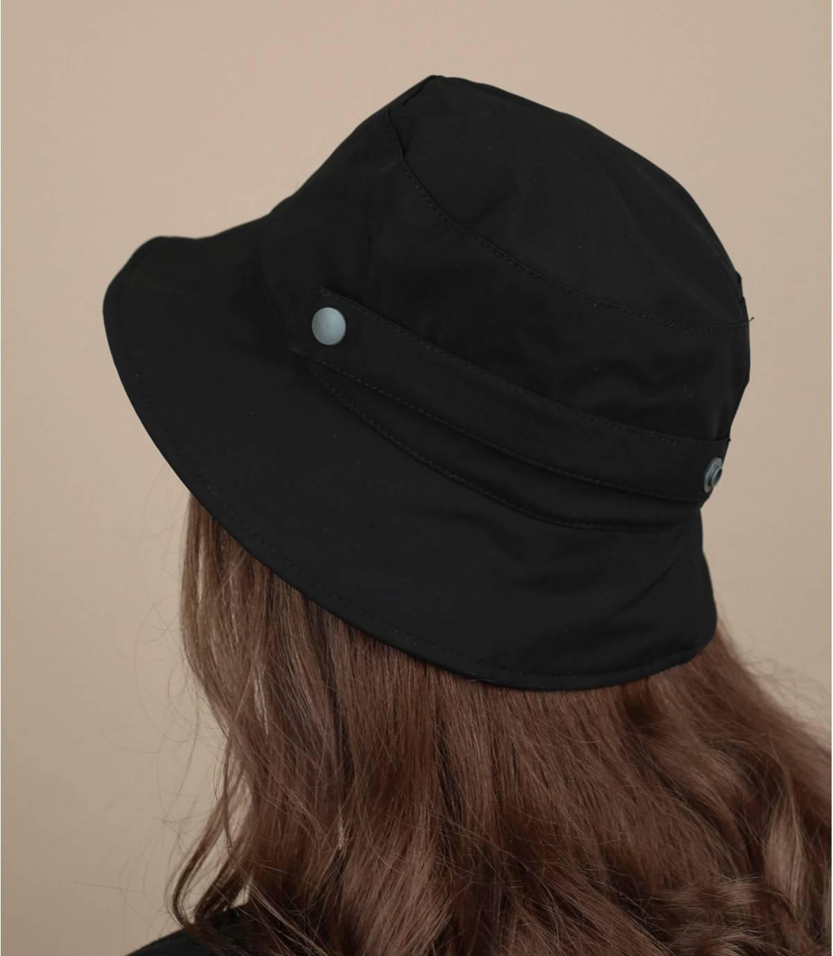 sombrero de pescador repelente al agua negro