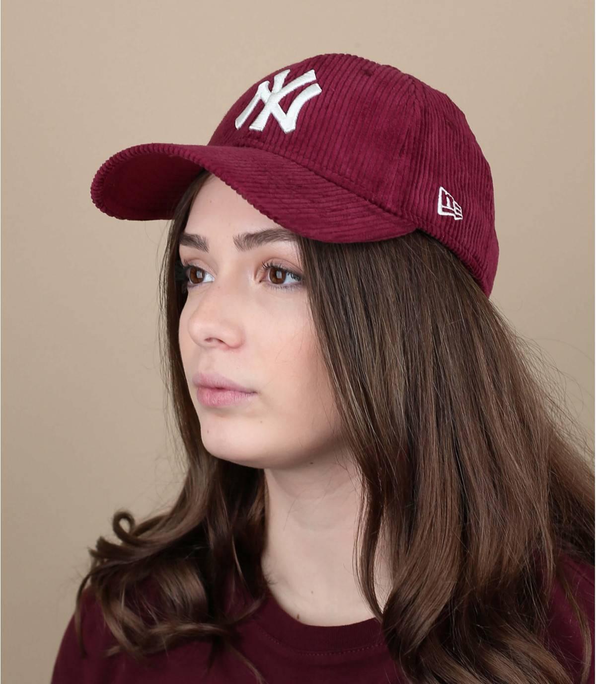 gorra terciopelo roja