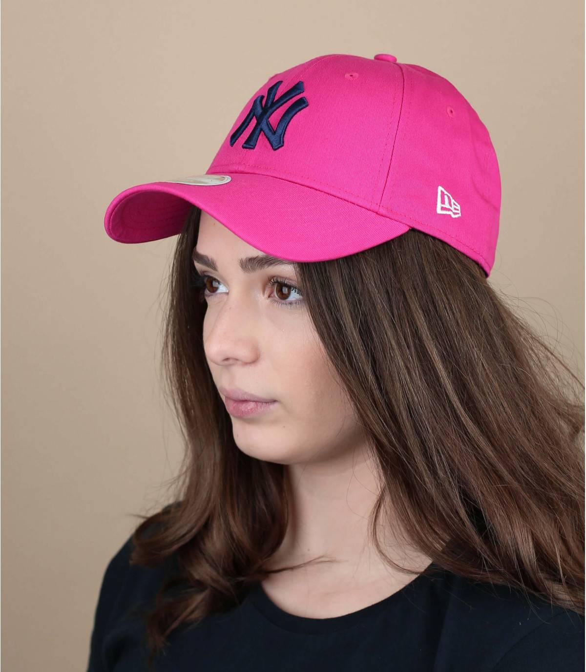 gorra mujer NY rosa