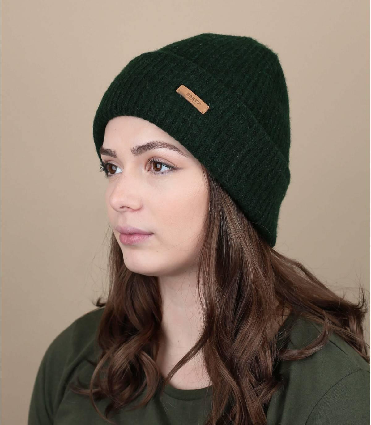 Gorra de solapa verde