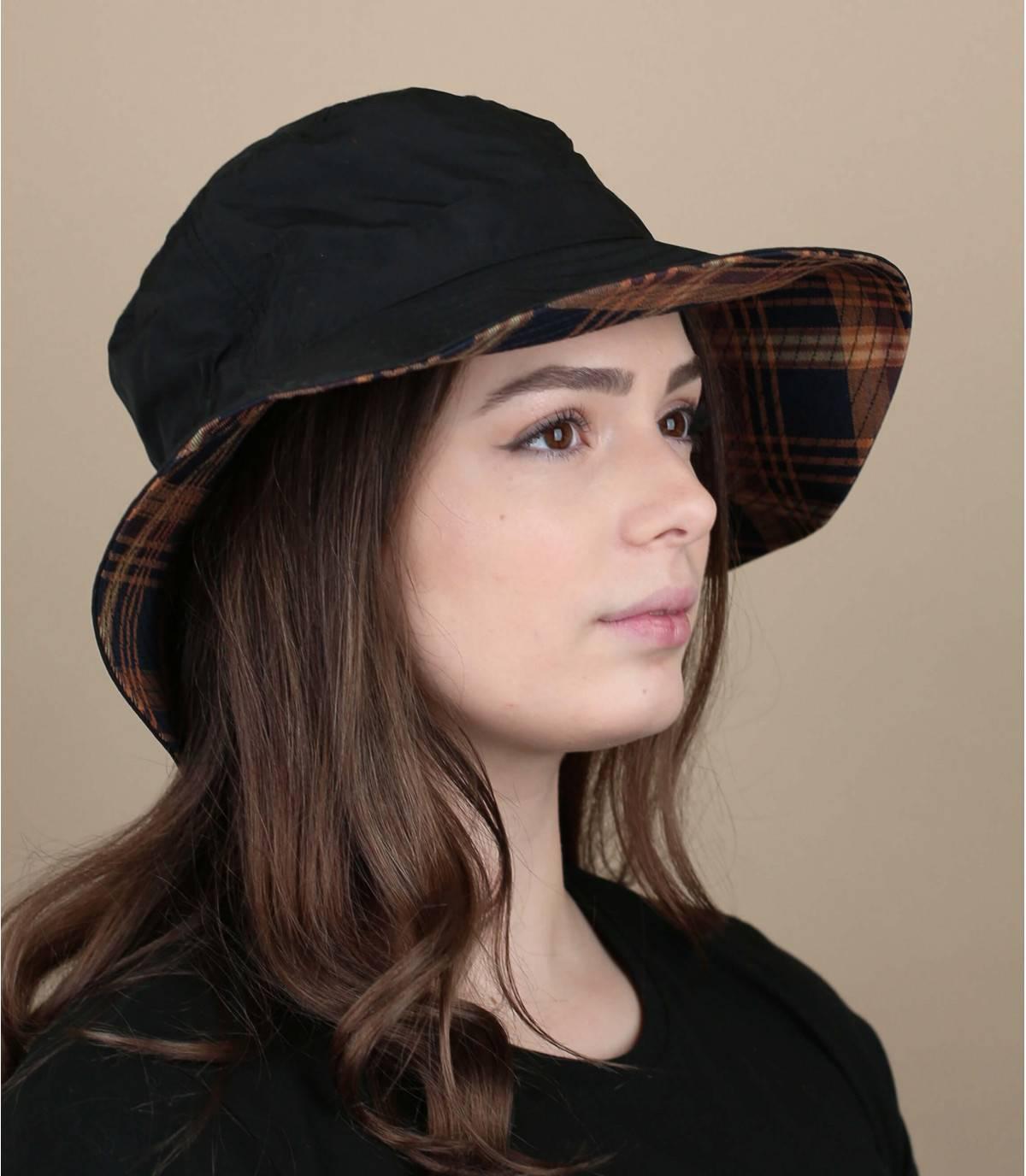 Sombrero pescador negro lluvia
