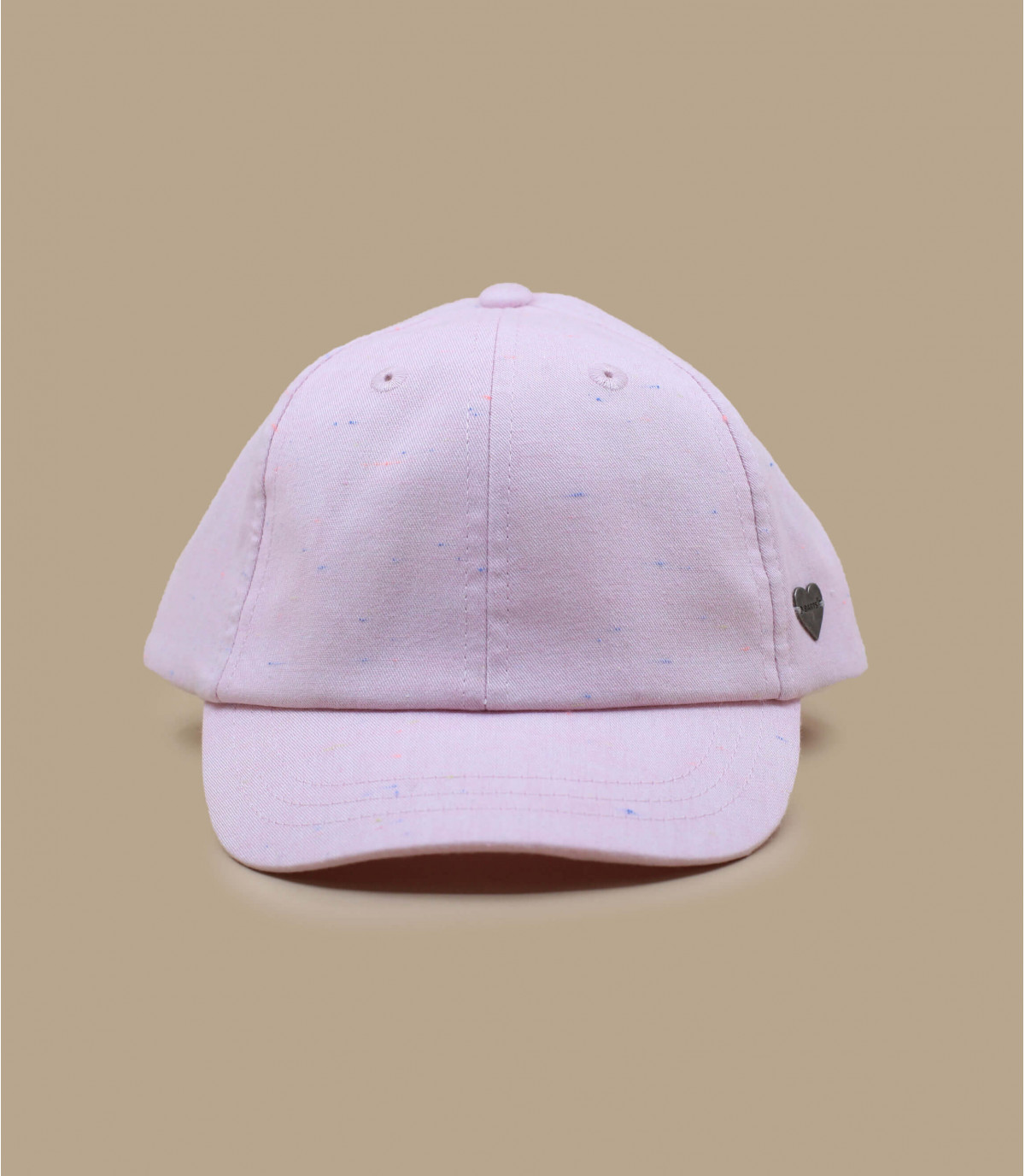 gorra niño rosa lazo