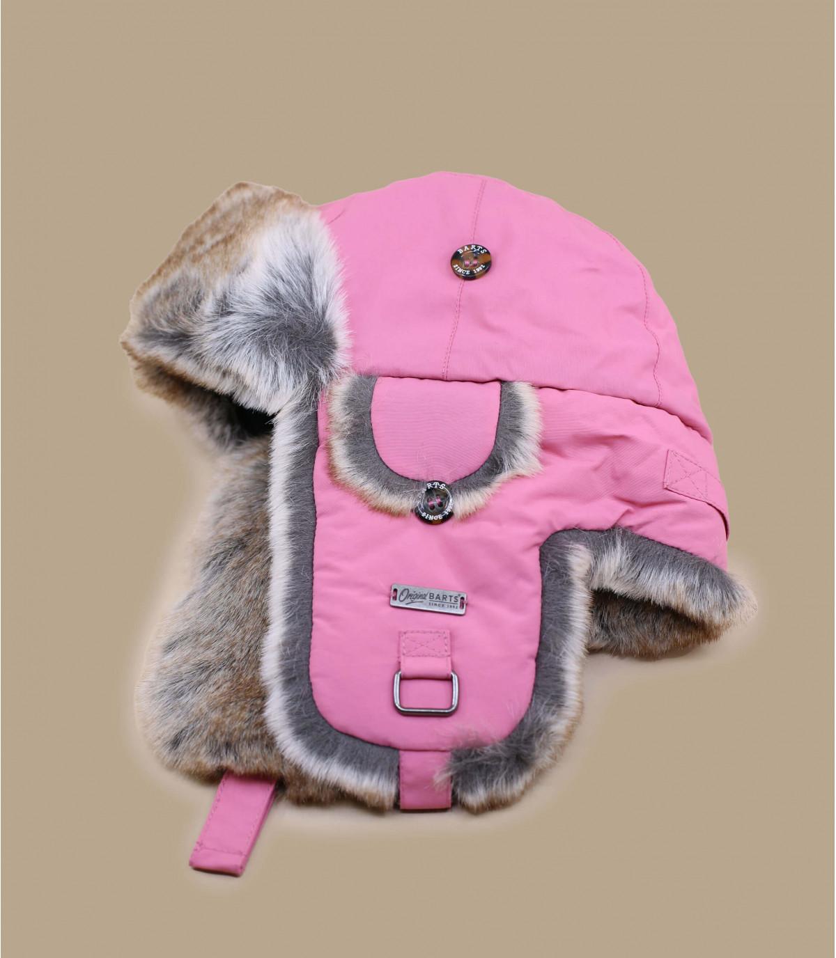 Gorro ruso rosa niño