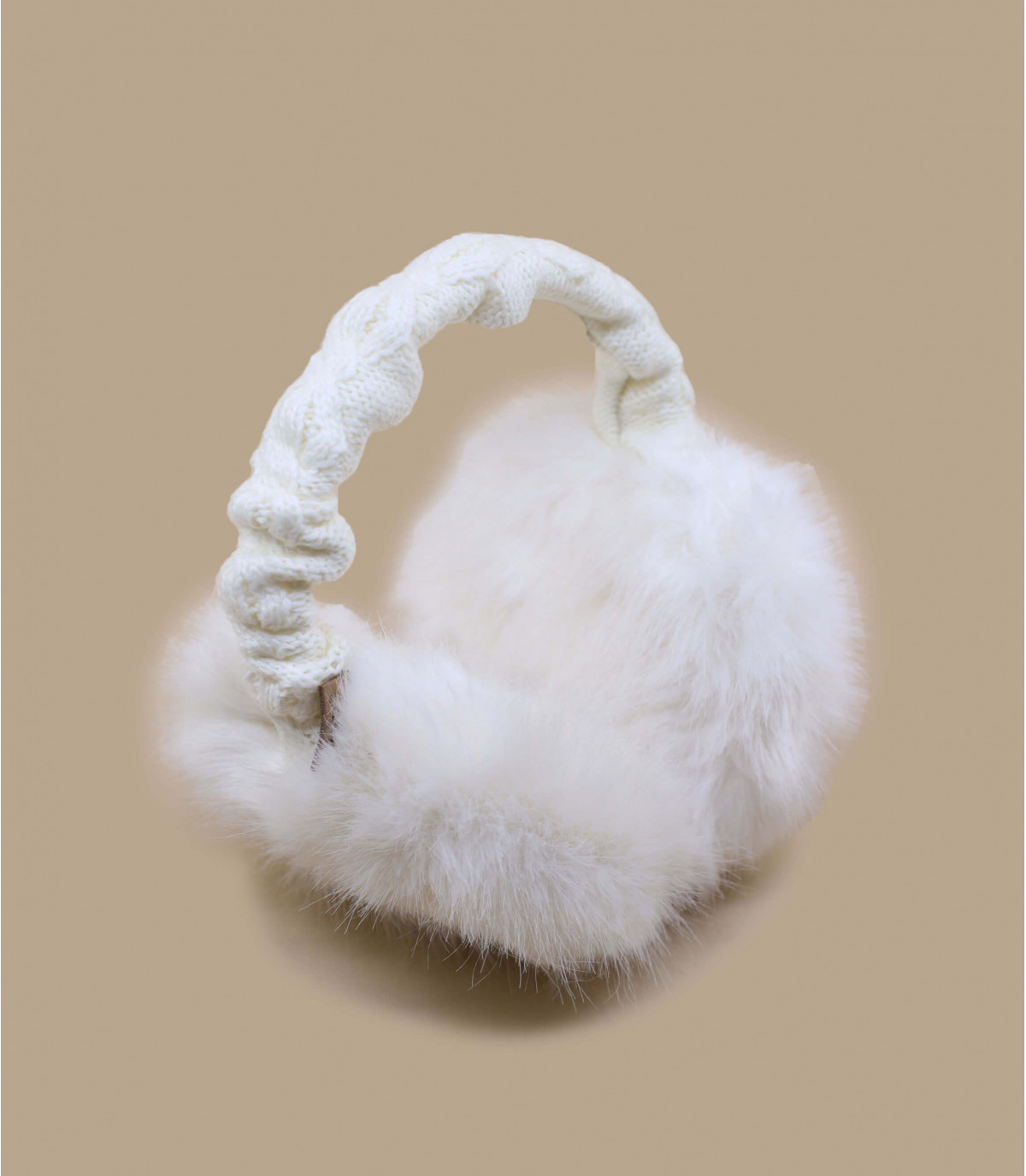 Detalles Fur earmuffs white imagen 2