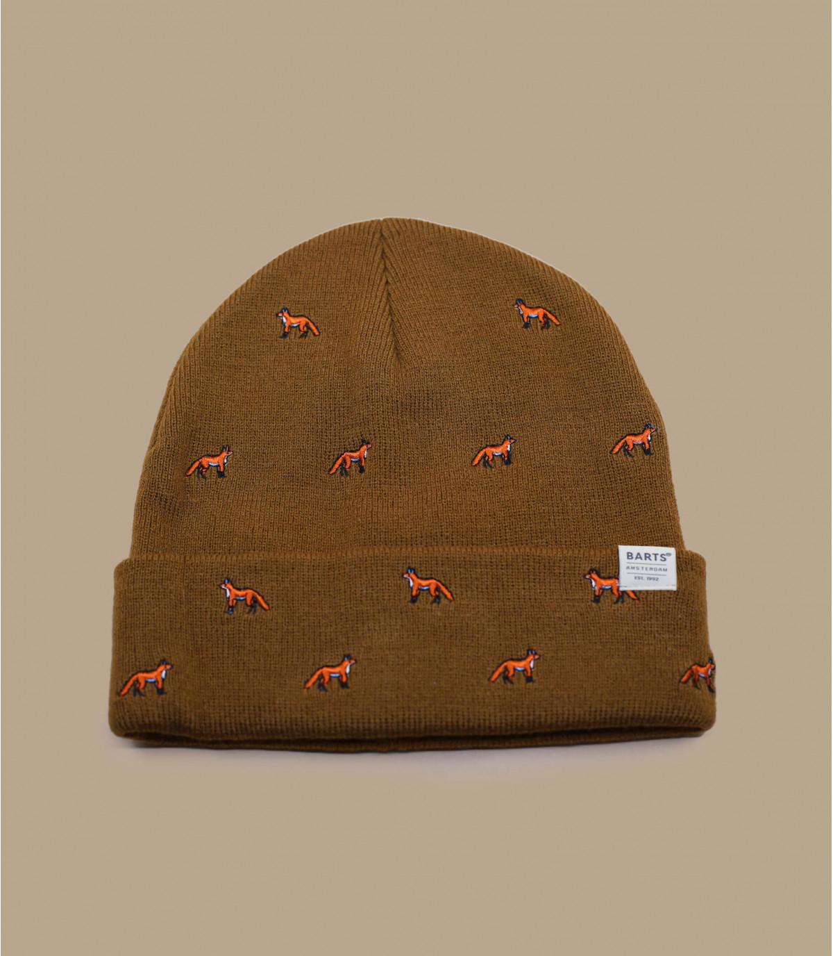 De largo retroceso gorra de color beige