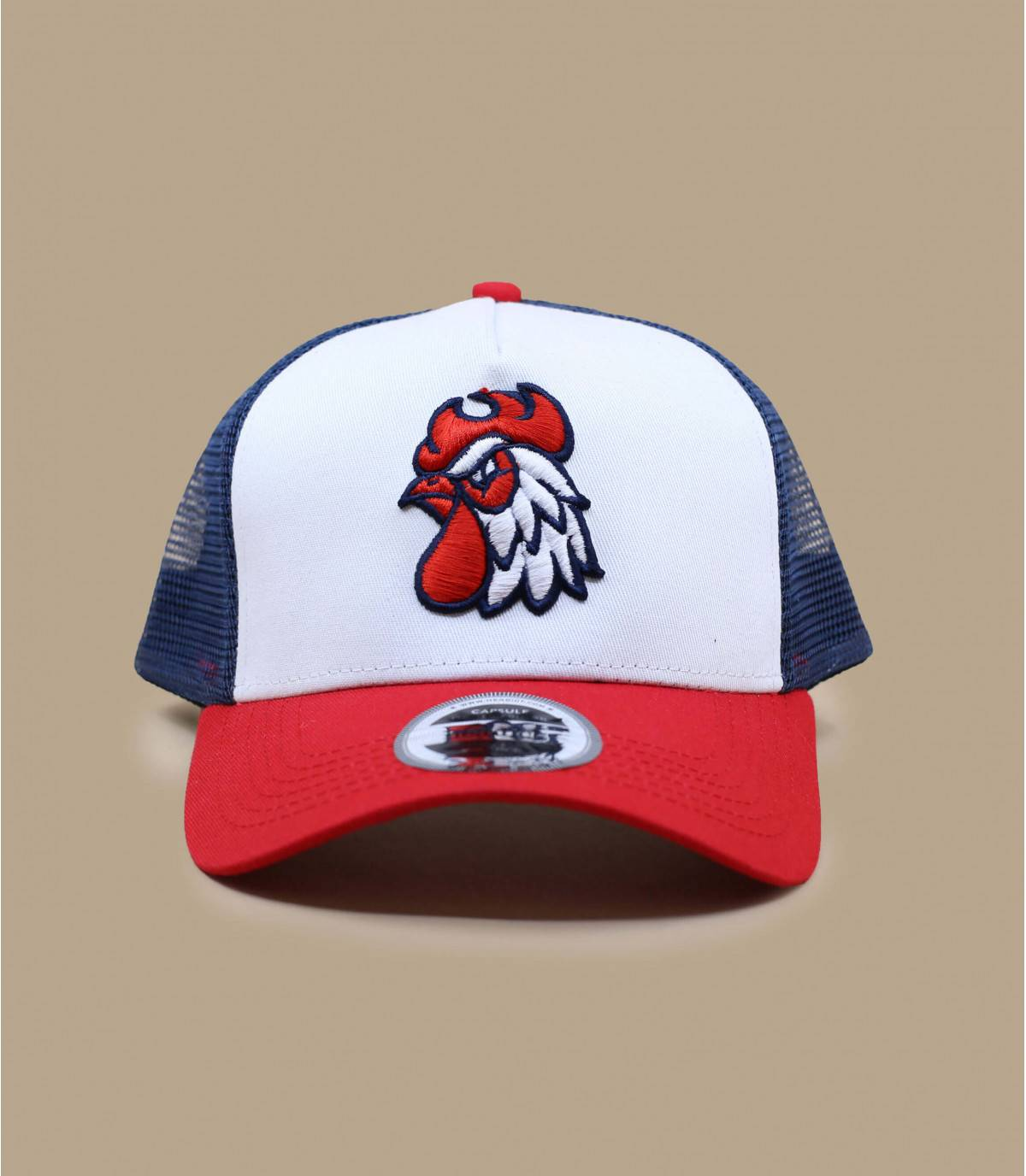 trucker gallo azul blanco rojo