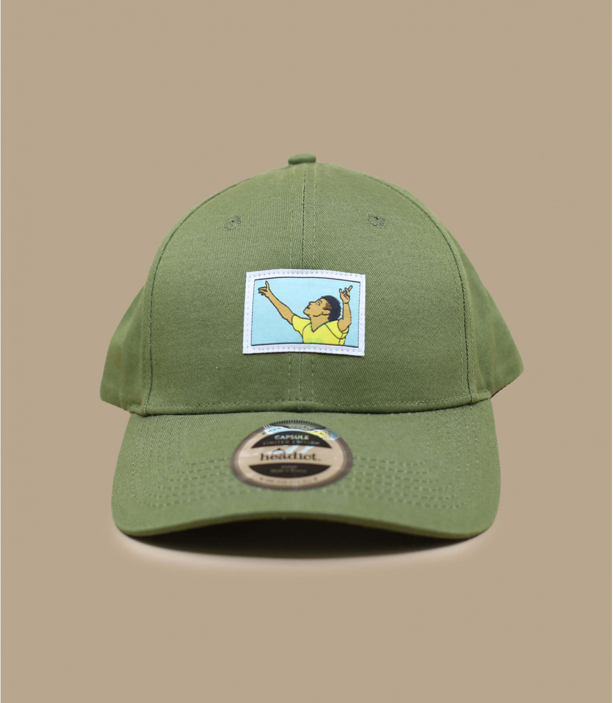gorra gol fútbol verde