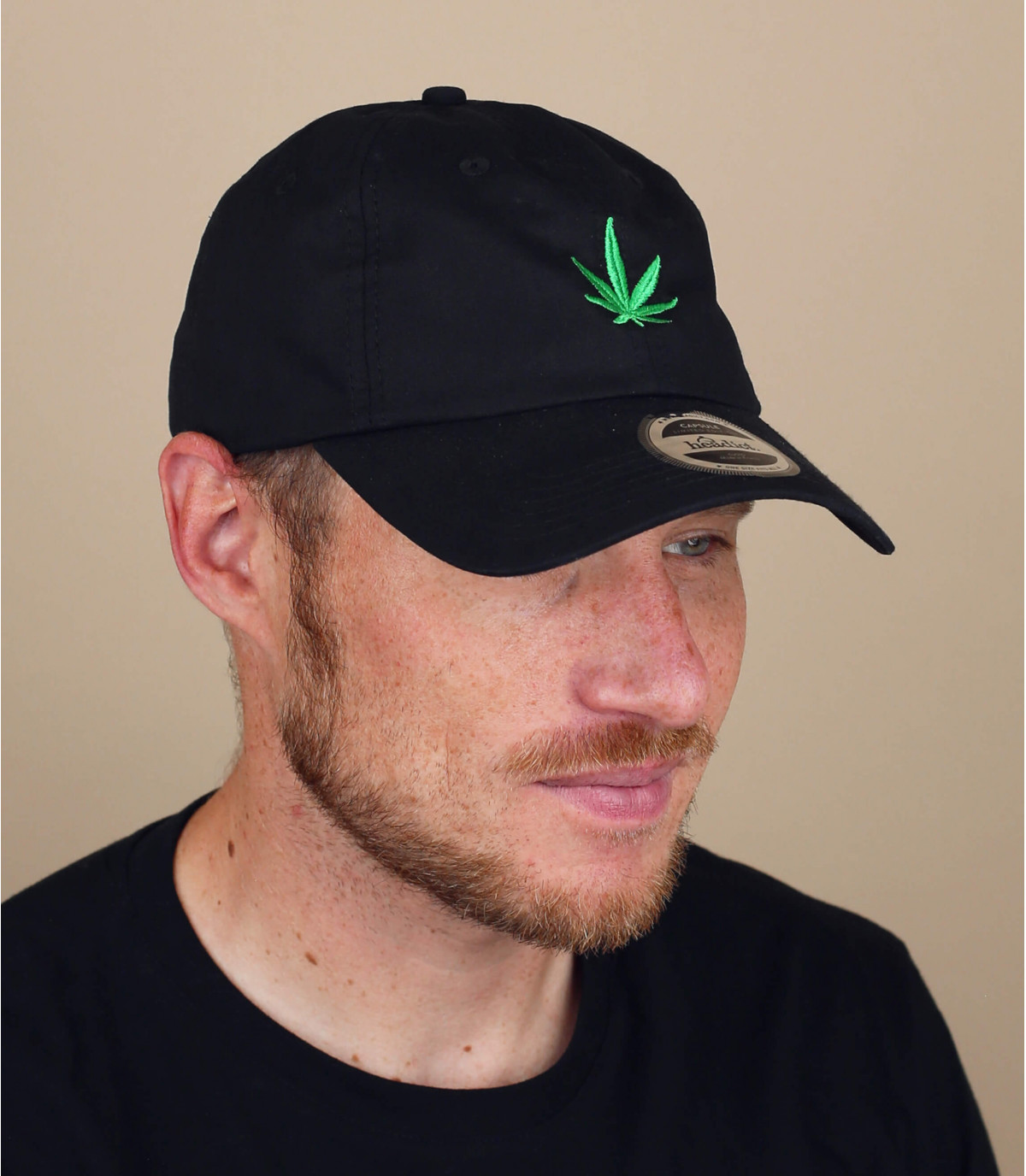 gorra marijuana negro