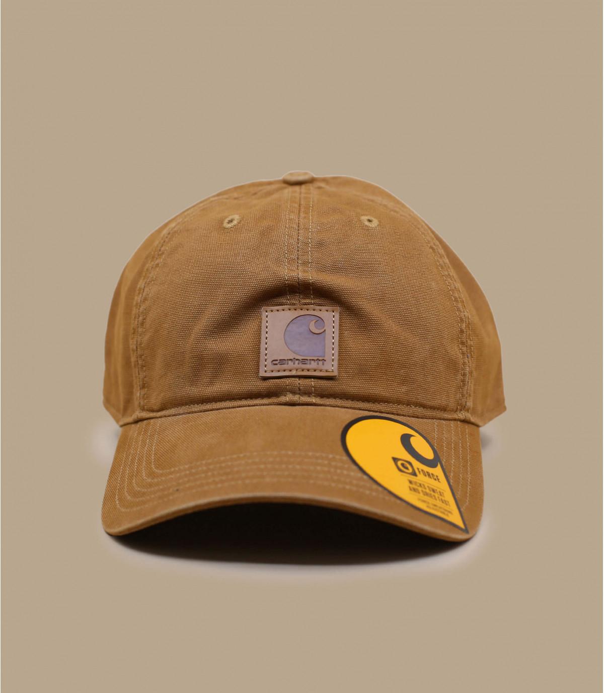 gorra curva de parche de color beige Carhartt
