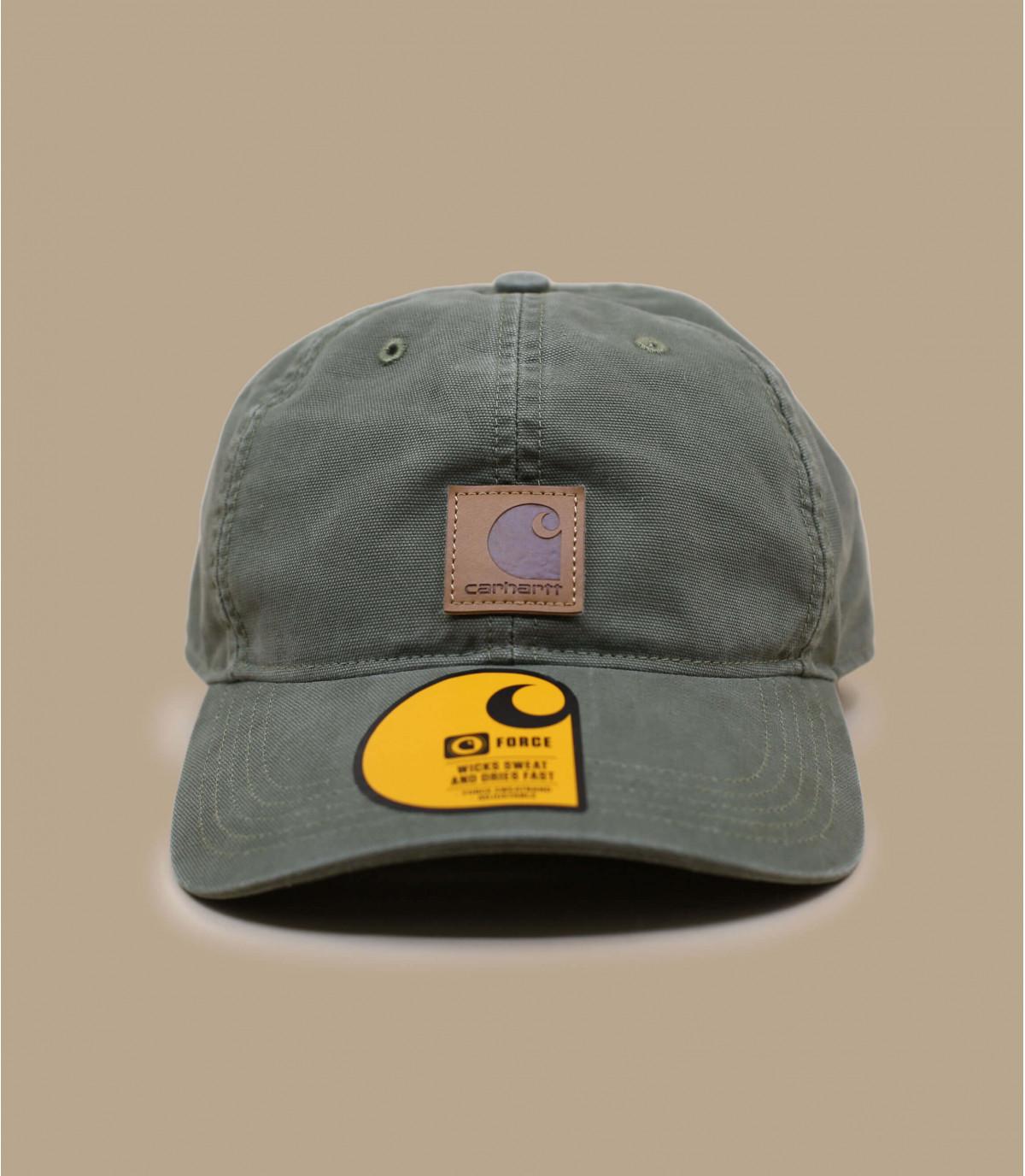 gorra curva parche verde Carhartt - Cap Carhartt odessa army green ... 52572c3208d
