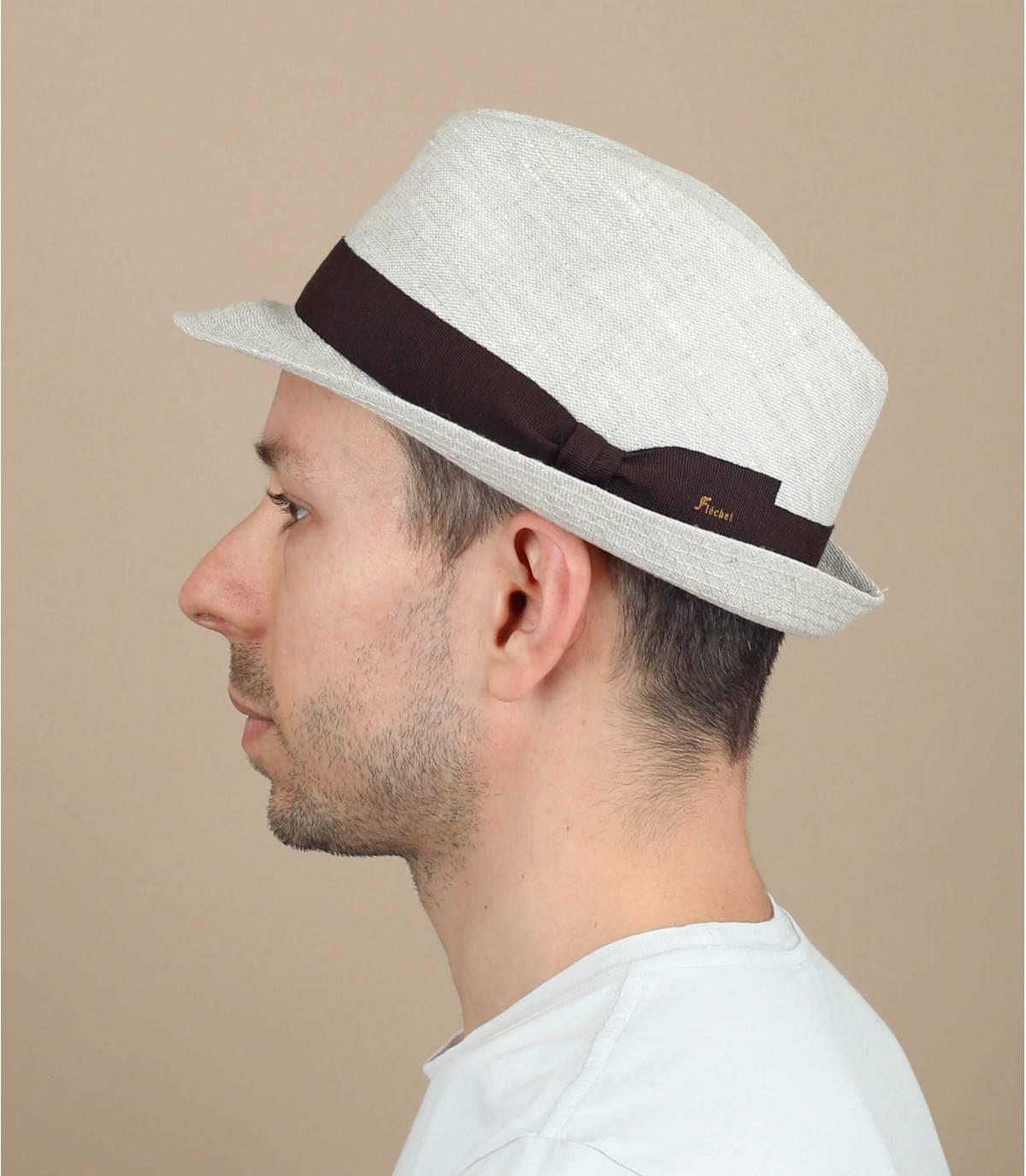 sombrero lino beis Fléchet