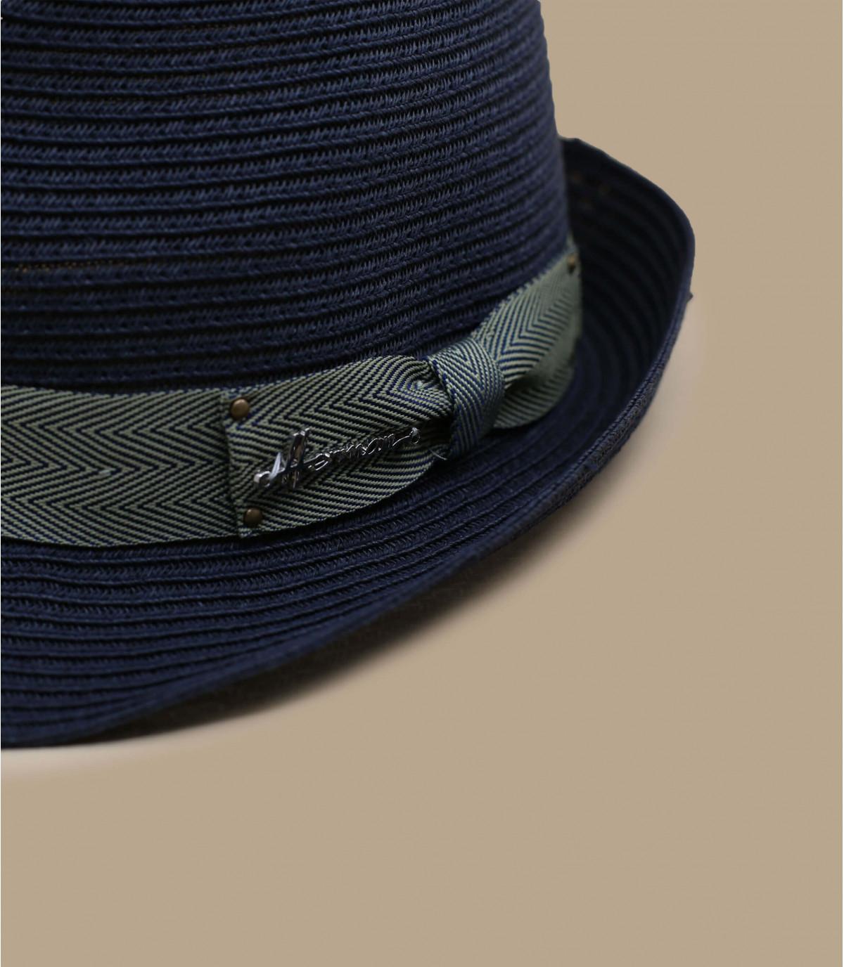 trilby paja azul marino