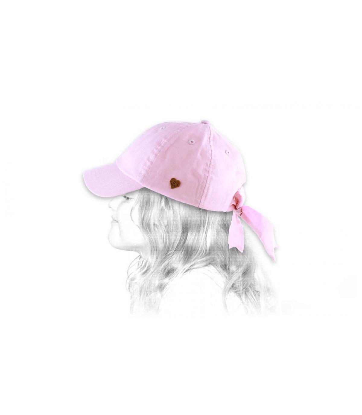Gorro niña rosa cinta