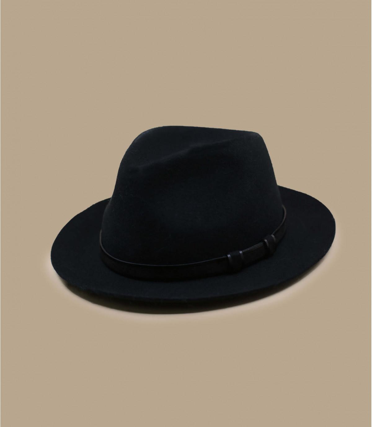 fedora negro lana