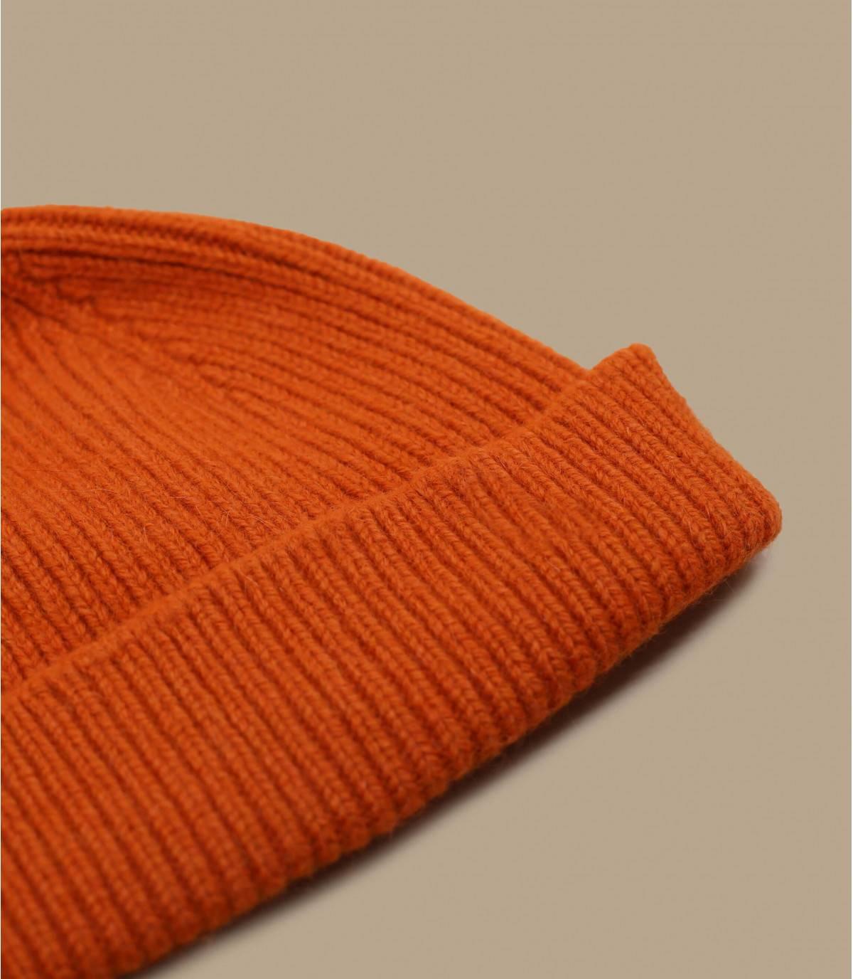 gorro docker naranja lana angora