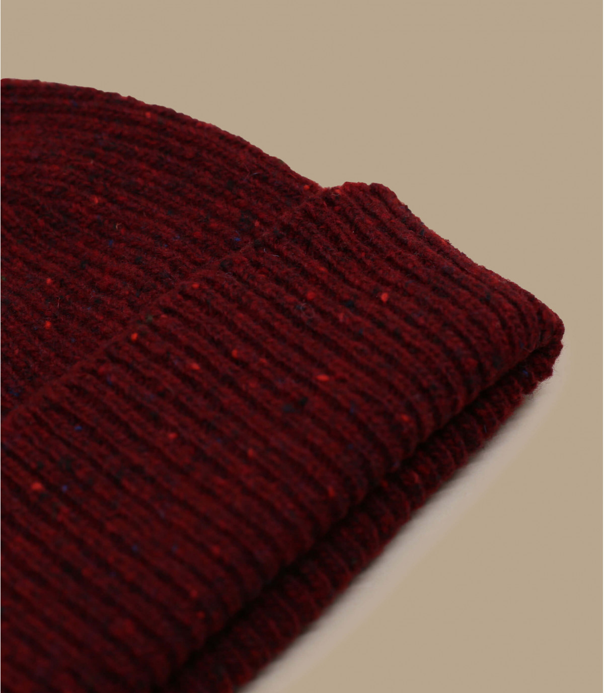 gorro docker granate lana