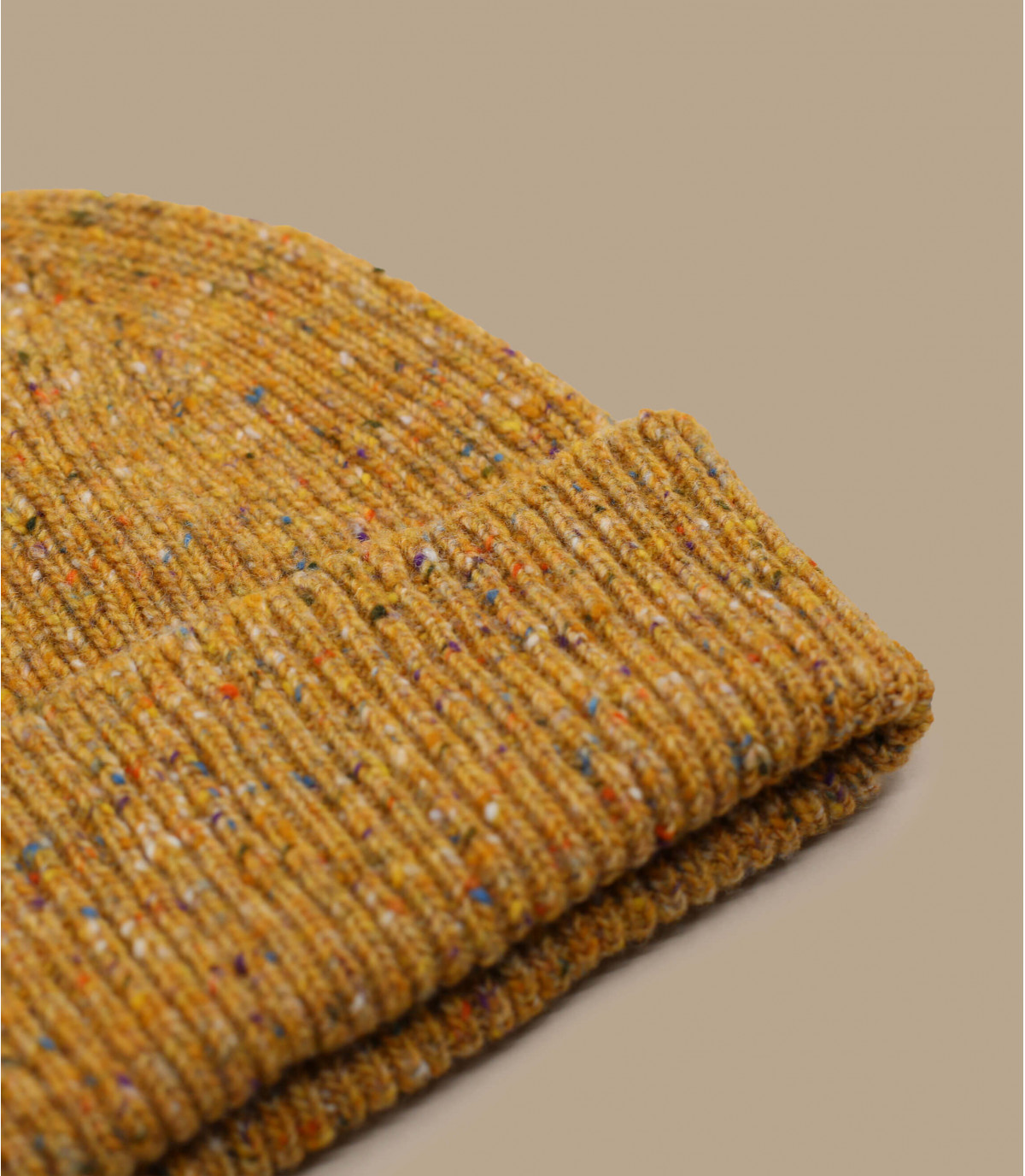 gorro marrón puño lana