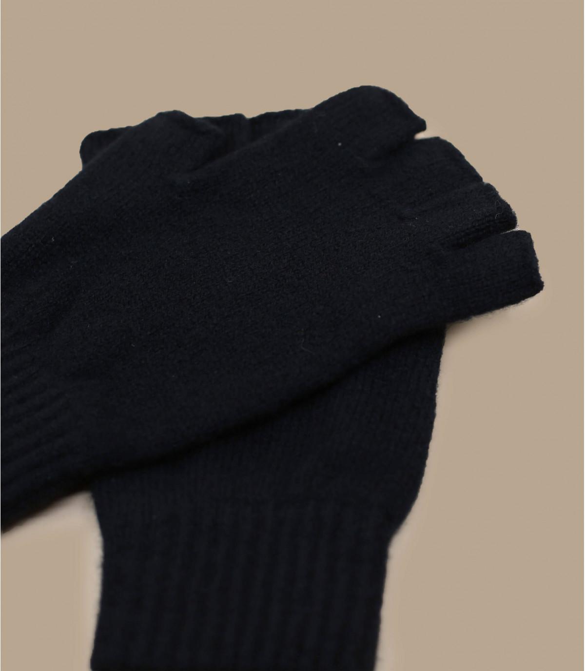 guantes negro lana