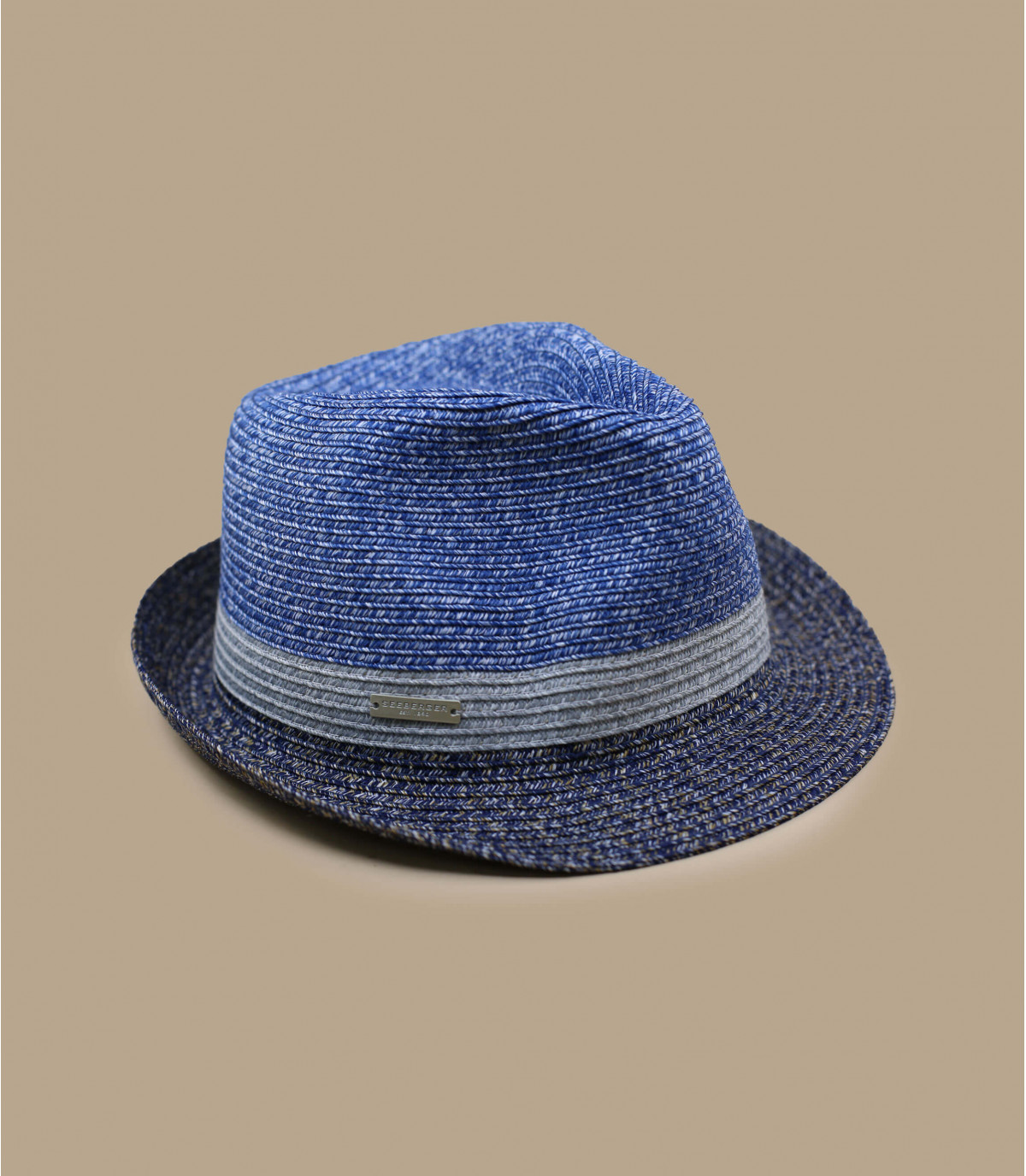 trilby gris azul raya
