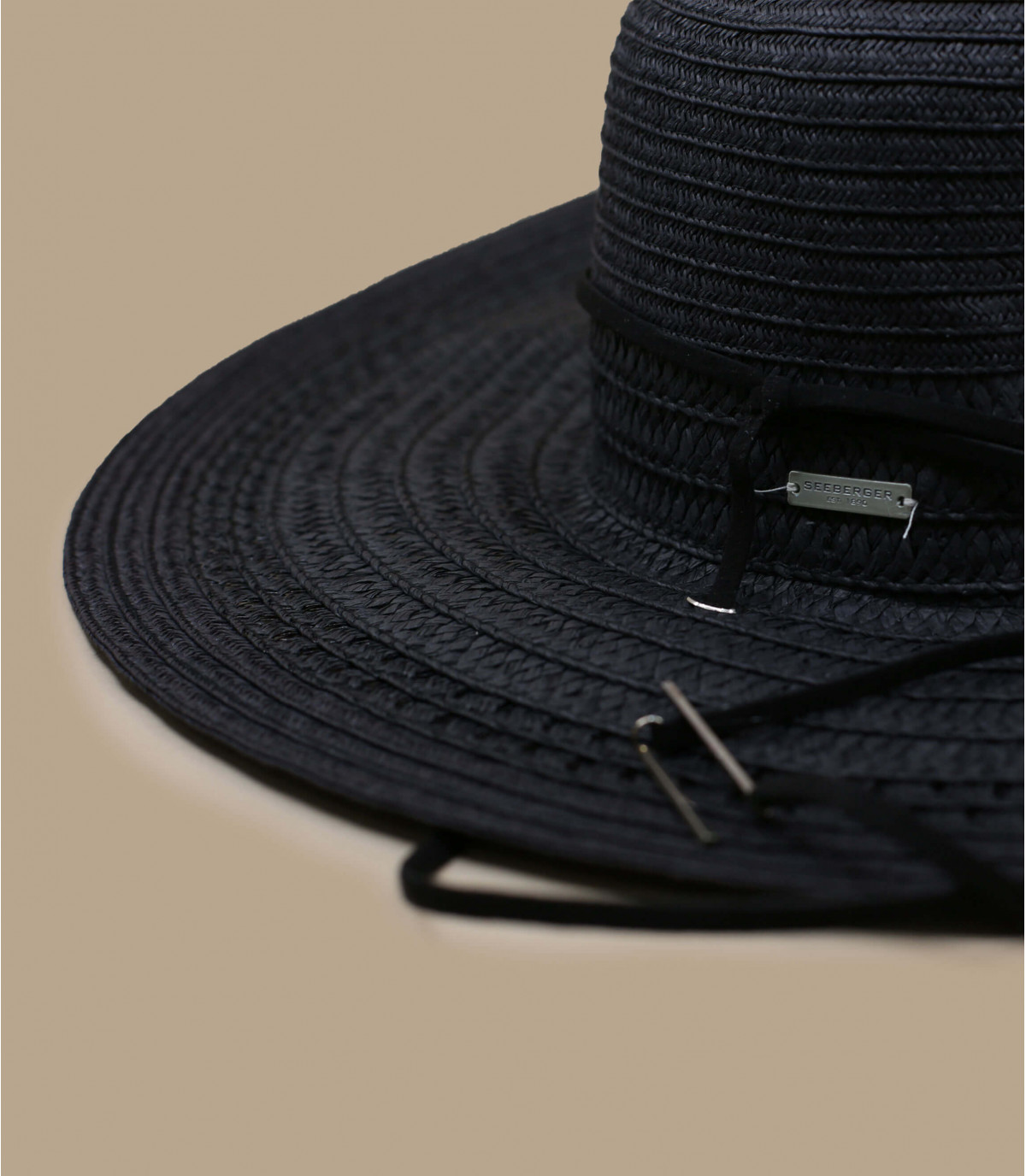 Detalles Fedora leather band black imagen 2