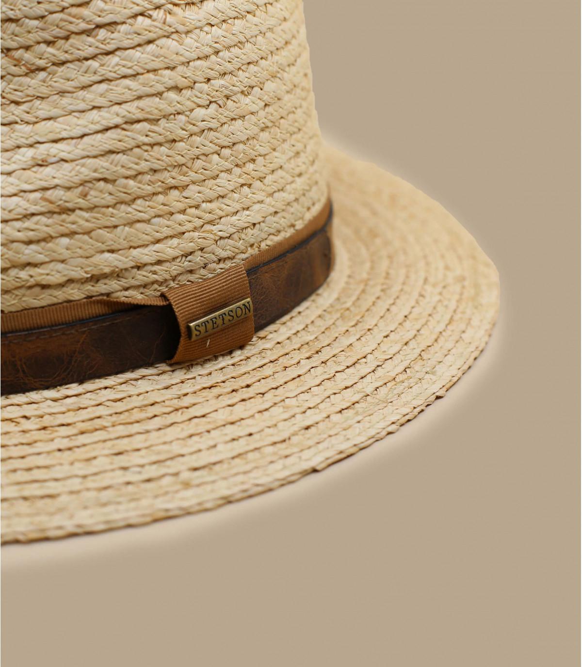 sombrero paja beis Stetson